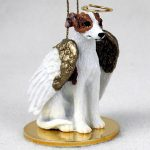 Whippet-Dog-Figurine-Angel-Statue-Hand-Painted-Brindle-White-180637637589