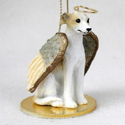 Whippet-Dog-Figurine-Angel-Statue-Hand-Painted-Tan-White-180637637640