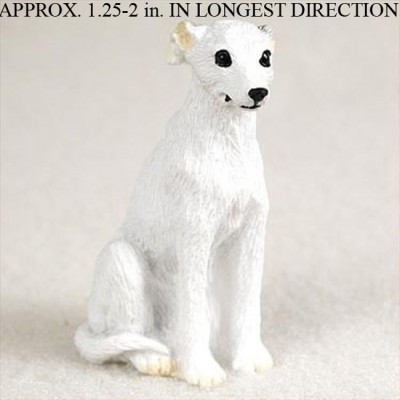 Whippet-Mini-Resin-Dog-Figurine-Statue-Hand-Painted-White-400205071367