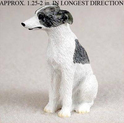 Whippet-Mini-Resin-Hand-Painted-Dog-Figurine-GrayWhite-180675957986