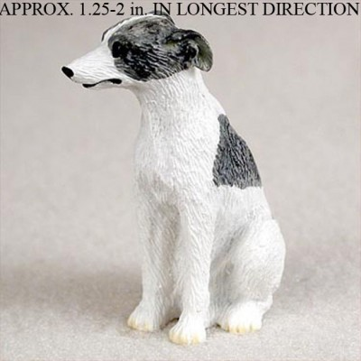 Whippet-Mini-Resin-Hand-Painted-Dog-Figurine-GrayWhite-180675957986