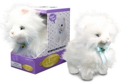 White-Fluffy-Cat-Lifelike-Stuffed-Animal-Meows-Walks-Electronic-Toy-400647525847