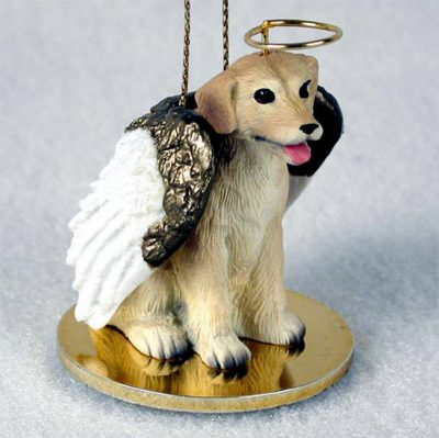 Yellow-Lab-Dog-Figurine-Ornament-Angel-Statue-Hand-Painted-400269274752