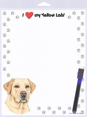 Yellow-Lab-Dog-Memo-Board-Magnetic-Notepad-Sign-Dog-Pen-8x10-180869121549