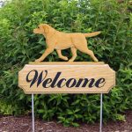 Yellow-Labrador-Retriever-Dog-Breed-Oak-Wood-Welcome-Outdoor-Yard-Sign-181404219501