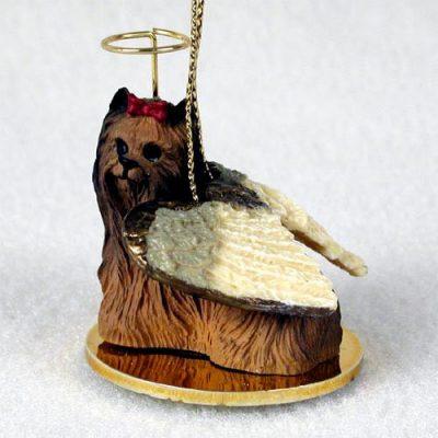 Yorkie-Dog-Figurine-Ornament-Angel-Statue-Hand-Painted-180793938005