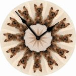 Yorkie-Dog-Wall-Clock-10-Round-Wood-Made-in-USA-Puppy-Cut-400707280319