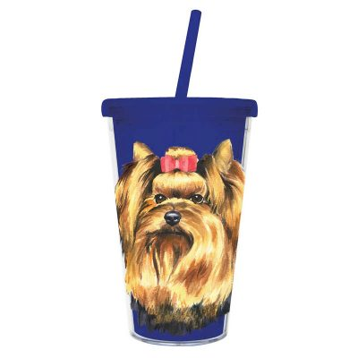 Yorkie-Double-Walled-Insulated-Acrylic-Dog-Tumbler-Water-Bottle-w-Straw-400339382866
