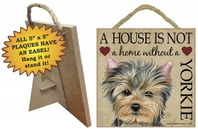 Yorkie-Indoor-Dog-Breed-Sign-Plaque-A-House-Is-Not-A-Home-5×5-Puppy-Cut-400487953972