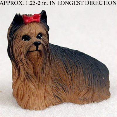 Yorkie-Mini-Resin-Hand-Painted-Dog-Figurine-Statue-Hand-Painted-180675958043