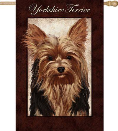 Yorkie Yorkshire Terrier Dog House Garden Flag Decorative