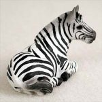 Zebra-Mini-Resin-Hand-Painted-Wildlife-Animal-Figurine-181360449189