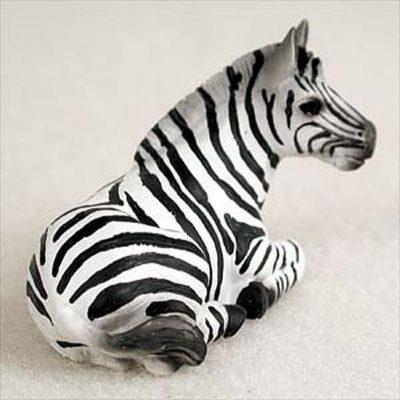 Zebra-Mini-Resin-Hand-Painted-Wildlife-Animal-Figurine-181360449189