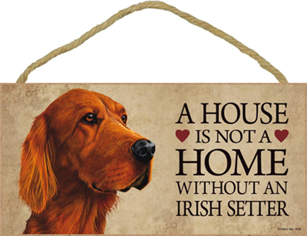 irish setter indoor dog breed sign plaque a house is not. Black Bedroom Furniture Sets. Home Design Ideas