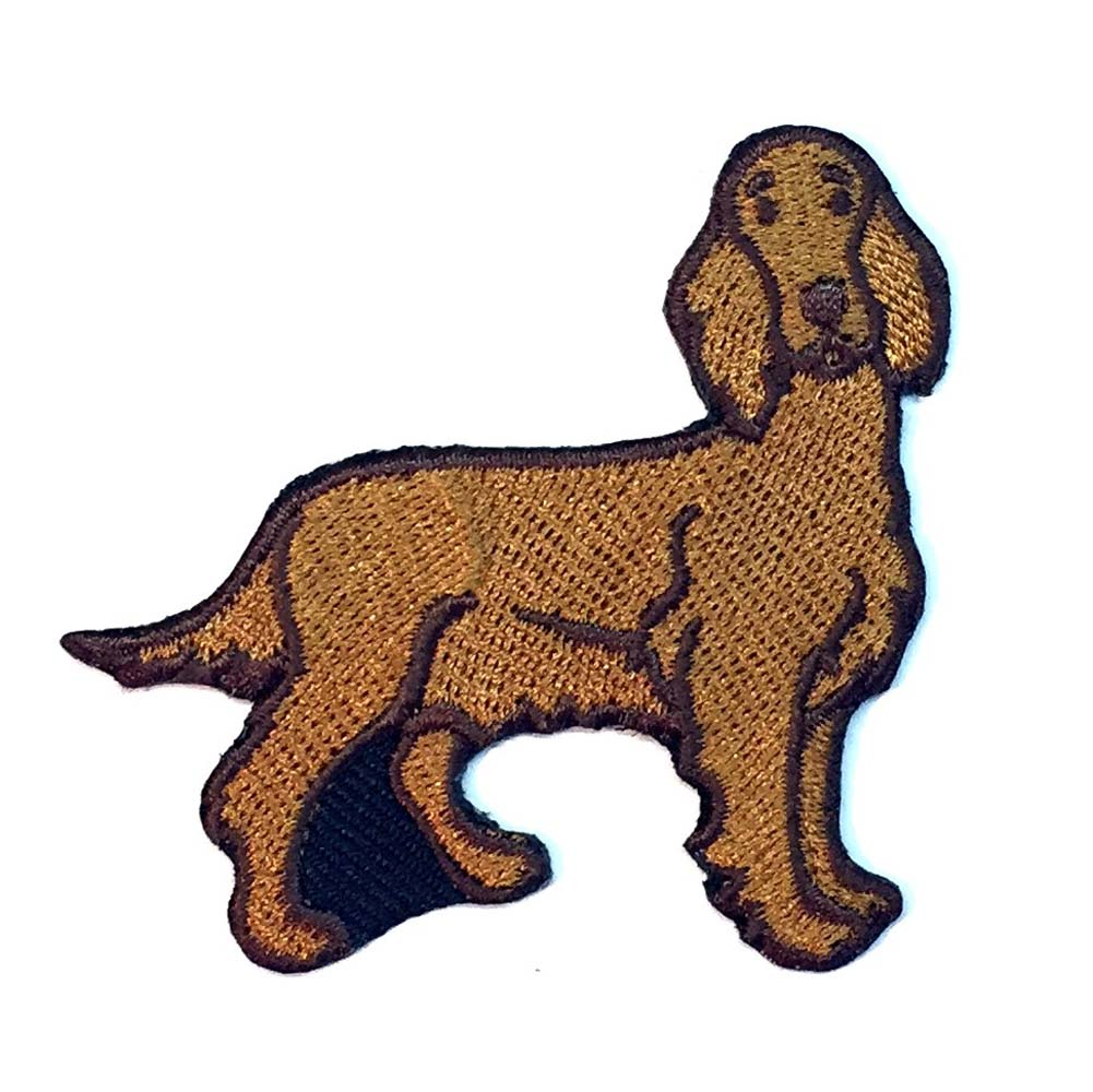 Irish Setter Iron on Embroidered Patch
