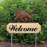 Irish Setter Outdoor Welcome Garden Sign