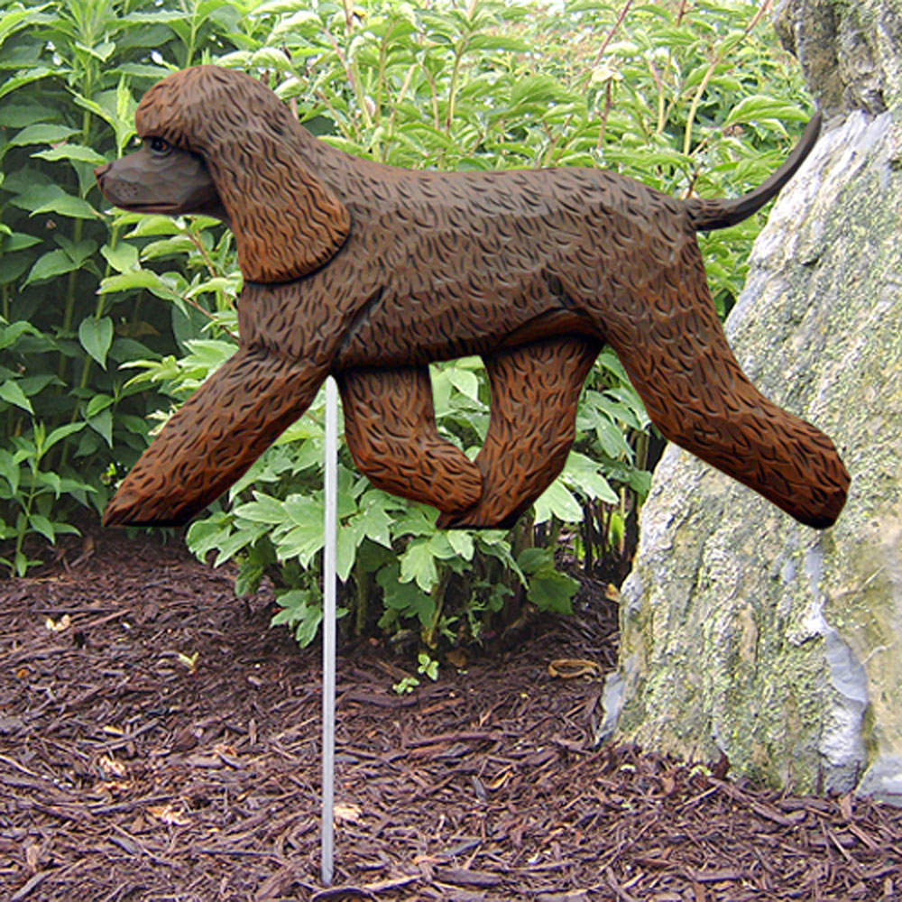 irish-water-spaniel-garden-stake