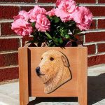 Irish Wolfhound Planter Flower Pot Fawn 1