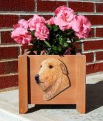 Irish Wolfhound Planter Flower Pot Fawn