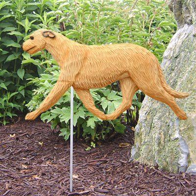 Irish Wolfhound Garden Stake Outdoor Sign Fawn