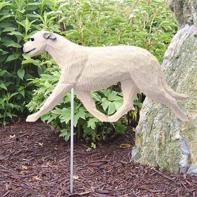 Irish Wolfhound Garden Stake Outdoor Sign White