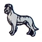 Irish Wolfhound Iron on Embroidered Patch