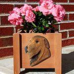 Irish Wolfhound Planter Flower Pot Red 1