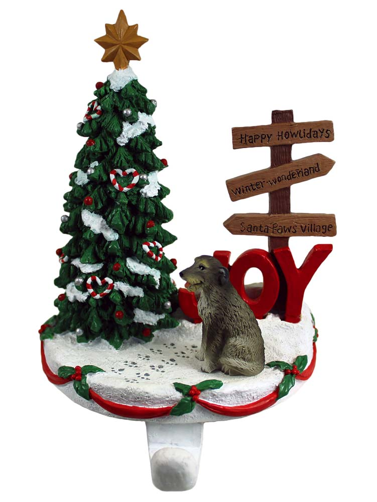 Irish Wolfhound Stocking Holder Hanger