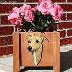 Italian Greyhound Planter Flower Pot Fawn 1