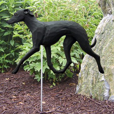 Italian Greyhound Garden Stake Outdoor Sign Black
