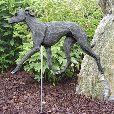 Italian Greyhound Garden Stake Outdoor Sign Blue