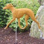 Italian Greyhound Garden Stake Outdoor Sign Fawn