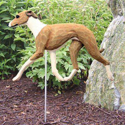 Italian Greyhound Garden Stake Outdoor Sign Fawn & White