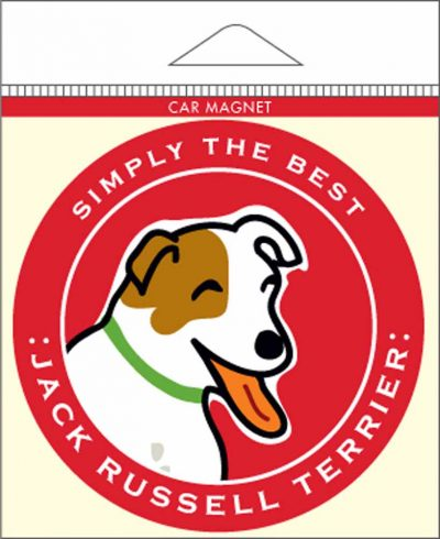 Jack Russell Terrier Car Magnet 4×4″ 1