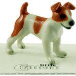 Jack Russell Terrier Hand Painted Porcelain Miniature Figurine 1