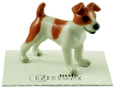 Jack Russell Terrier Hand Painted Porcelain Miniature Figurine