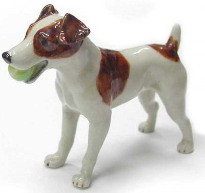 Jack Russell Terrier Hand Painted Porcelain Figurine