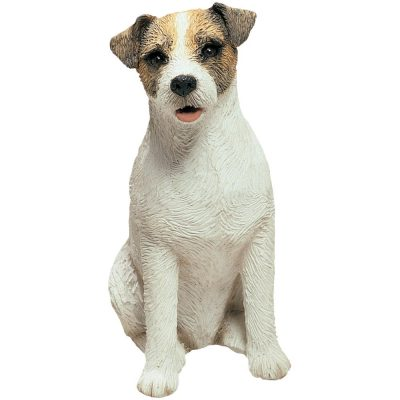 Jack Russell Terrier Figurine Sandicast Original Size 5 Inch Brown
