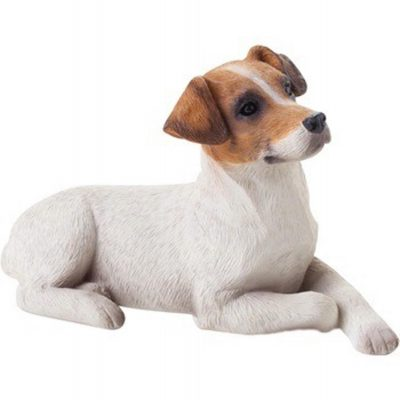 Jack Russell Terrier Figurine Hand Painted Brown Smooth – Sandicast 1