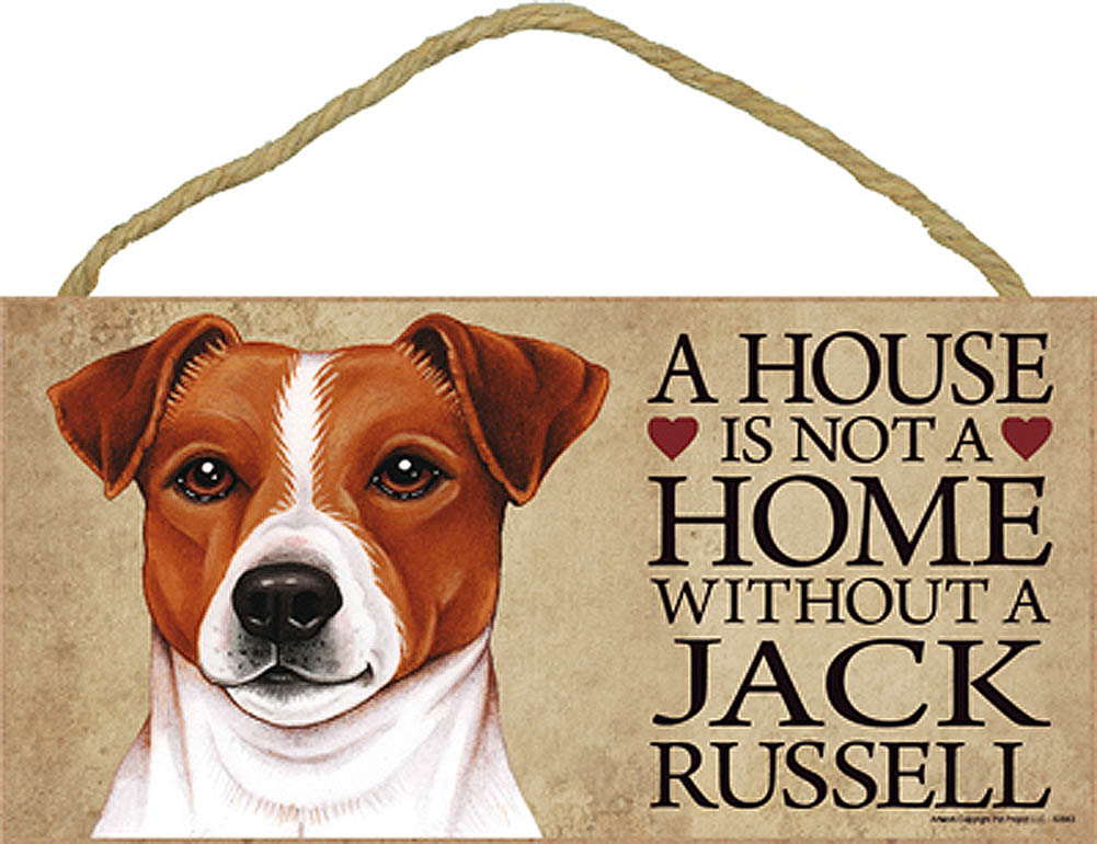 Jack Russell Terrier Wood Dog Sign Wall Plaque Photo Display A House Is Not A Ho + Bonus Coaster