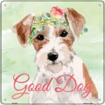"Jack Russell Terrier ""Good Dog"" Metal Sign"