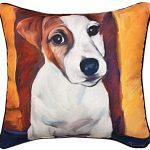 Jack Russell Terrier Artistic Throw Pillow 18X18″ 1