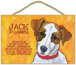 Jack Russell Terrier Characteristics Indoor Sign Brown