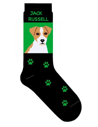 jack-russell-terrier-socks-green