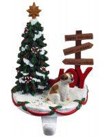 Jack Russell Terrier Stocking Holder Hanger Brown Smooth Coat