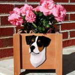 Jack Russell Terrier Planter Flower Pot Smooth Tri 1