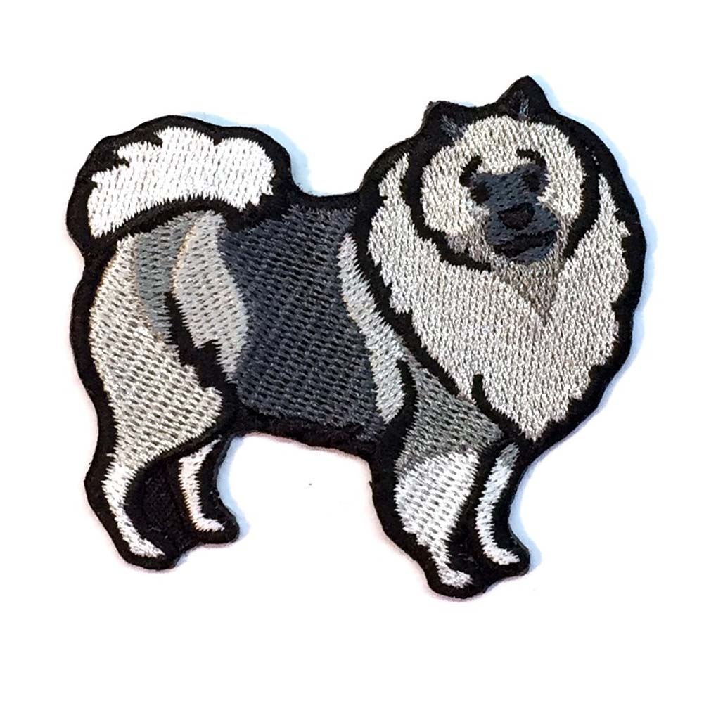 Keeshond Iron on Embroidered Patch
