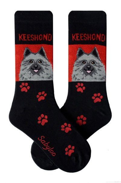 keeshond-socks-red