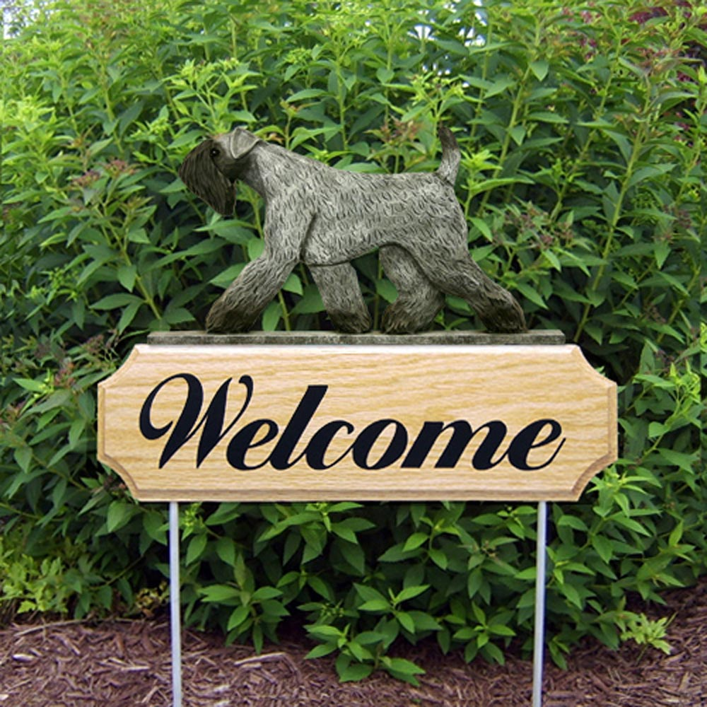 kerry-blue-terrier-welcome-sign