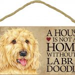 Labradoodle Indoor Dog Breed Sign Plaque – A House Is Not A Home Blnd + Bonus Coaster 1